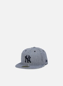 New Era - Pinstripe Fitted NY Yankees, Navy/White 1