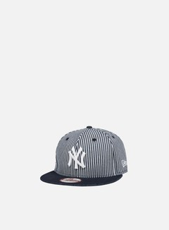 New Era - Pinstripe Strapback NY Yankees, Navy/White 1