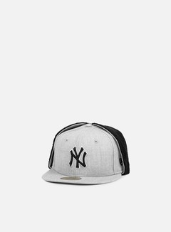 New Era - Premium Dog Ear NY Yankees, Heather Grey/Black 1