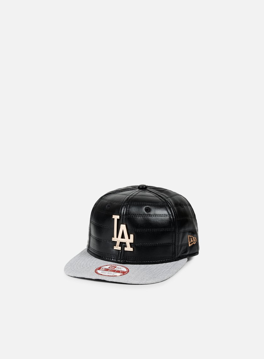New Era - Quilted Crown Snapback LA Dodgers, Black/Bronze