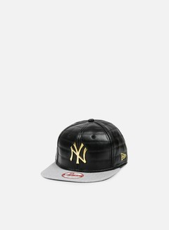 New Era - Quilted Crown Snapback NY Yankees, Black/Gold 1