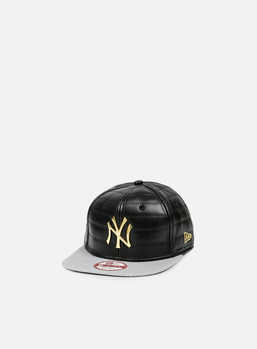 New Era - Quilted Crown Snapback NY Yankees, Black/Gold