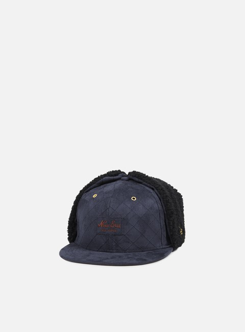 cappellini new era quilted suede dog ear navy