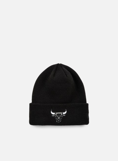 cappellini new era reflective pack knit beanie chicago bulls black