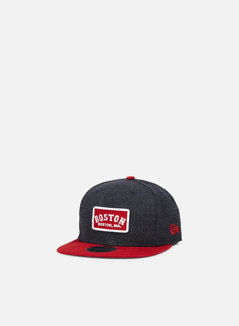 New Era - Retro Patch Snapback Boston Red Sox, Heather Navy/Team Colors