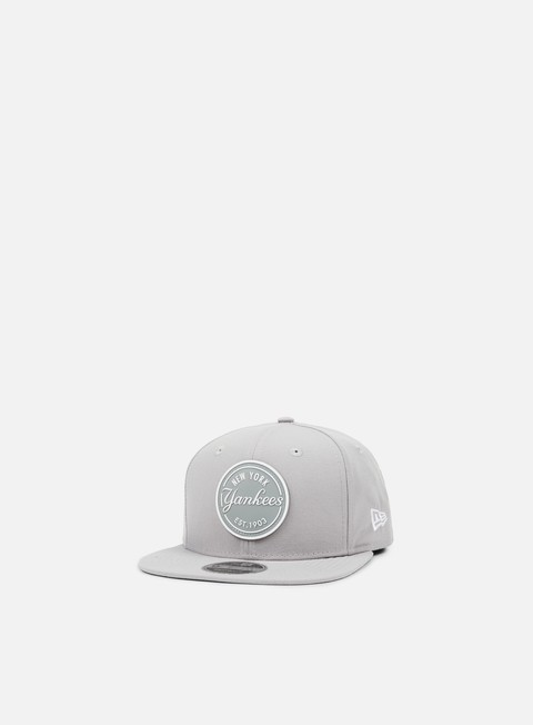 cappellini new era rubber emblem snapback ny yankees grey