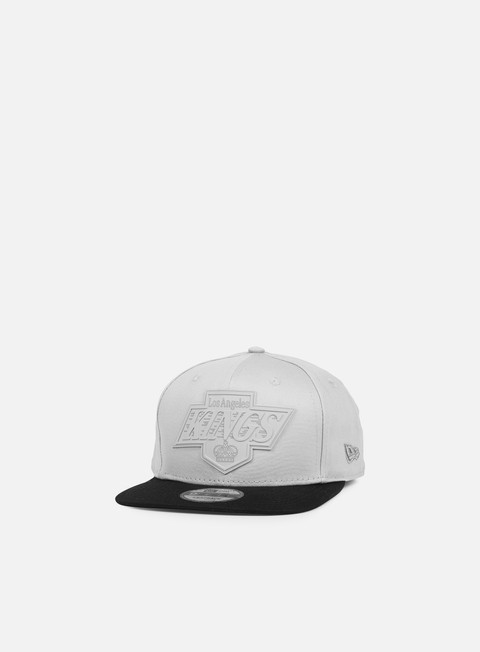 cappellini new era rubber logo snapback la kings grey black