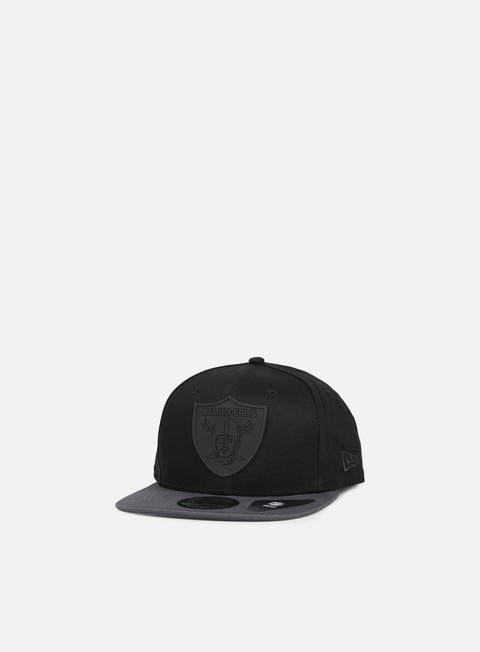 cappellini new era rubber logo snapback oakland raiders black grey heather