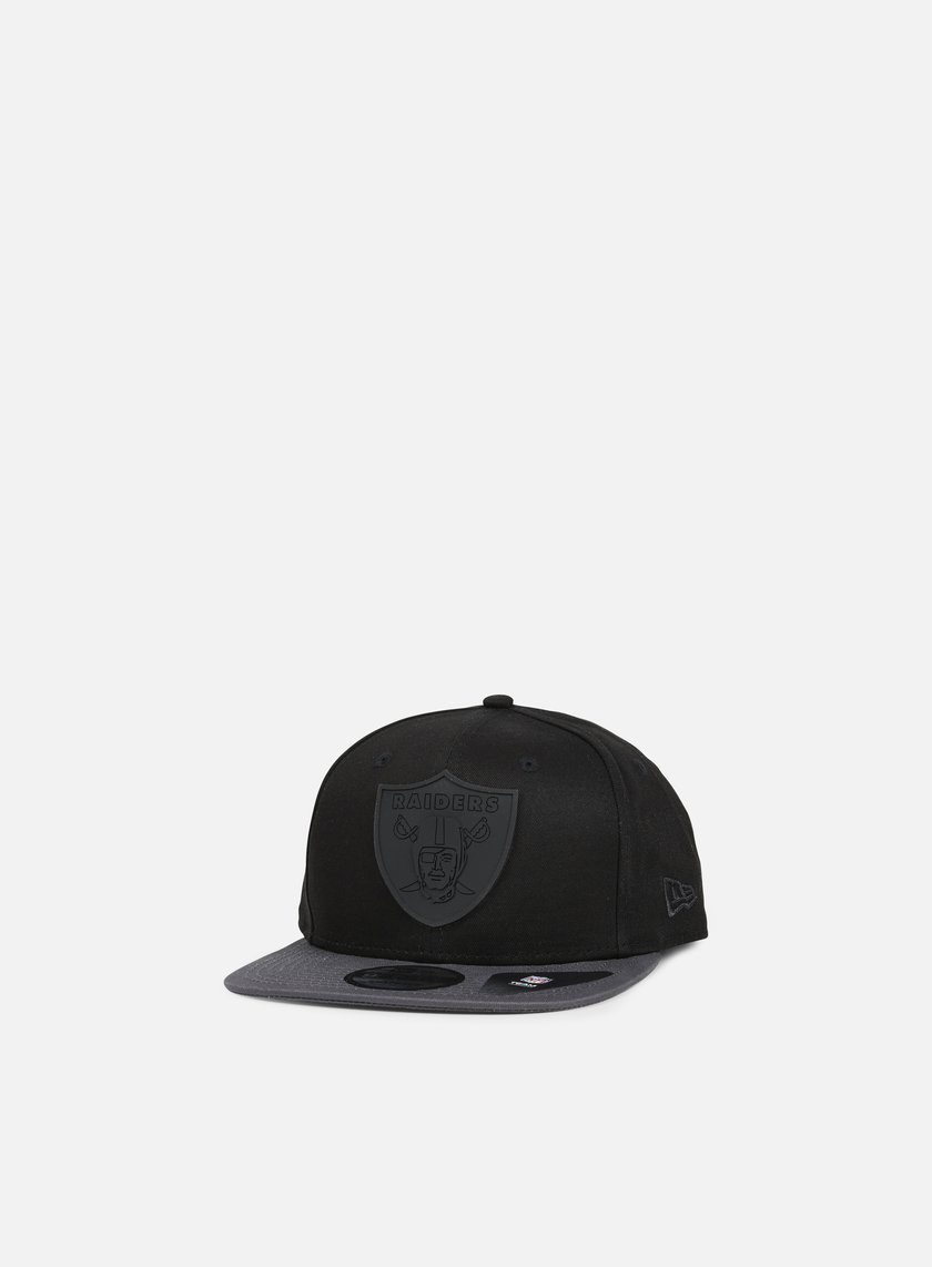 New Era - Rubber Logo Snapback Oakland Raiders, Black/Grey Heather