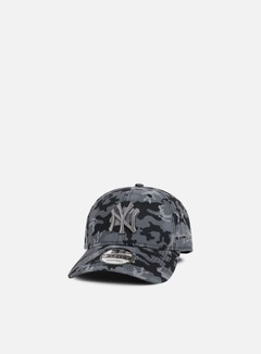 New Era - Seasonal Camo Strapback NY Yankees, Dark Grey Camo 1
