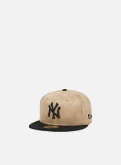 New Era - Seasonal Suede Crown NY Yankees, Wheat/Black 1