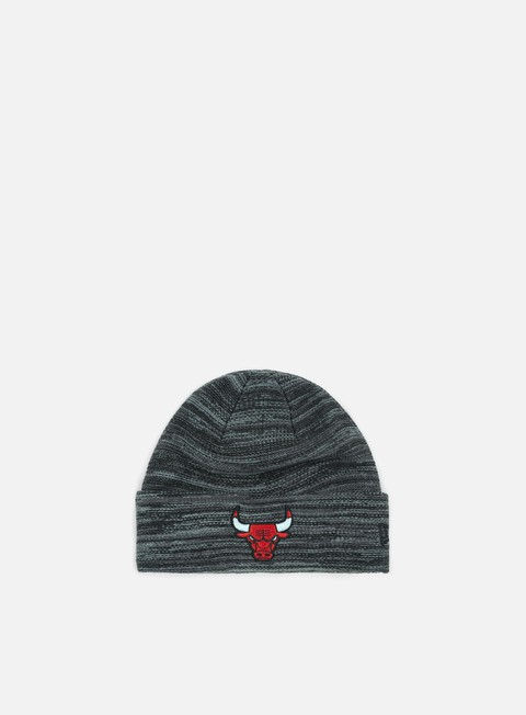 cappellini new era shadow tech knit beanie chicago bulls black grey heather