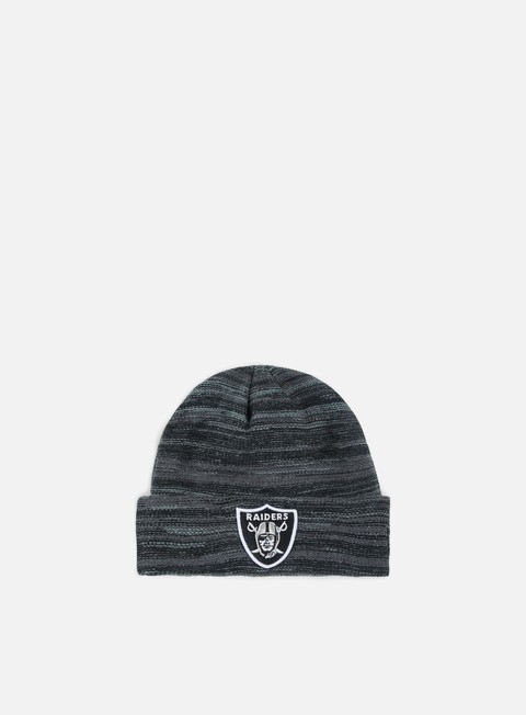 cappellini new era shadow tech knit beanie oakland raiders black grey heather