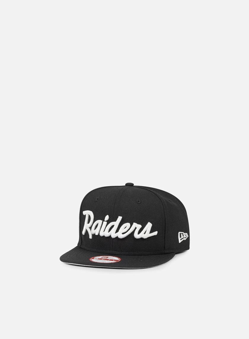 New Era - So Cal Script Team Snapback Oakland Raiders, Black