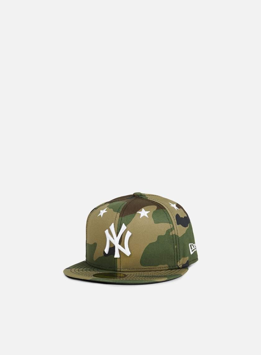 New Era - Star Crown MLB NY Yankees, Woodland Camo