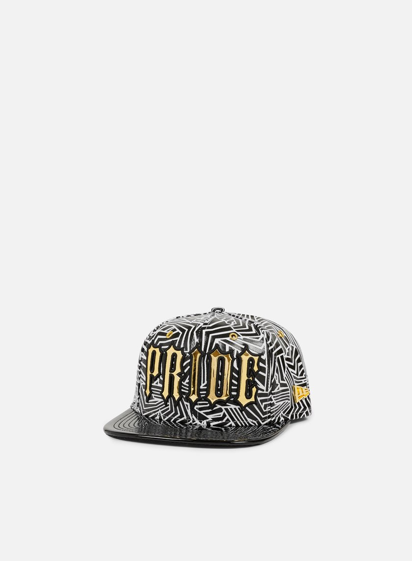 New Era - Statement Slogan Strapback, Black/White/Gold