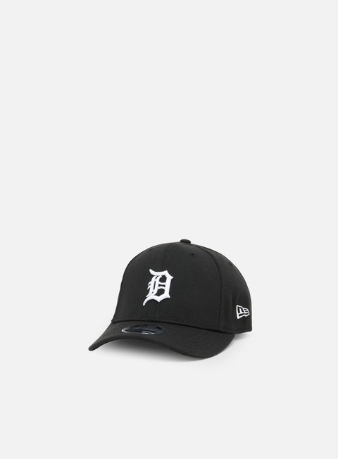 Curved Brim Caps New Era Stretch Snap 9Fifty Detroit Tigers