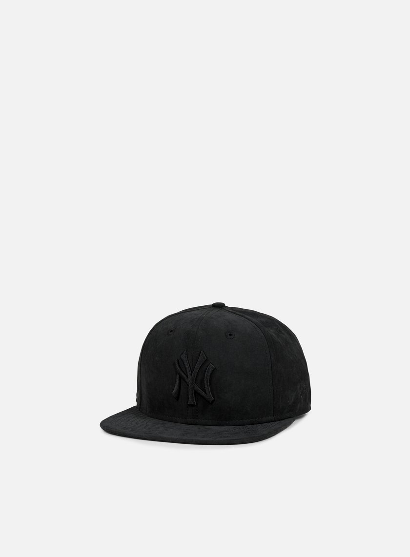 New Era - Suede Leather Snapback NY Yankees, Black/Black