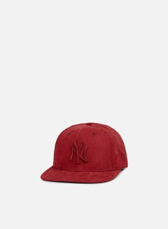 New Era - Suede Leather Snapback NY Yankees, Cardinal/Cardinal