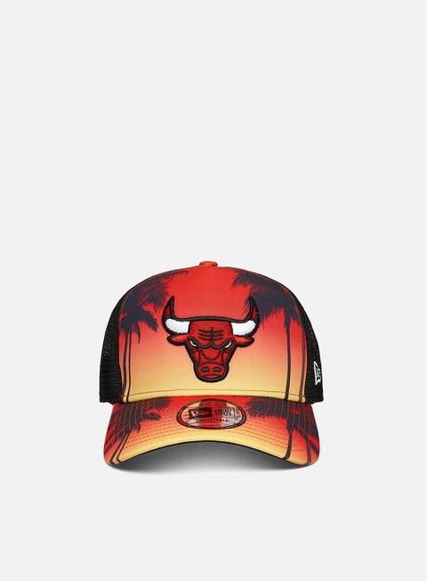 Outlet e Saldi Cappellini con visiera New Era Summer City Trucker Chicago Bulls