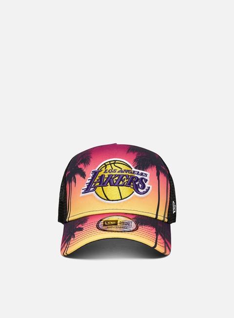 Outlet e Saldi Cappellini con visiera New Era Summer City Trucker LA Lakers