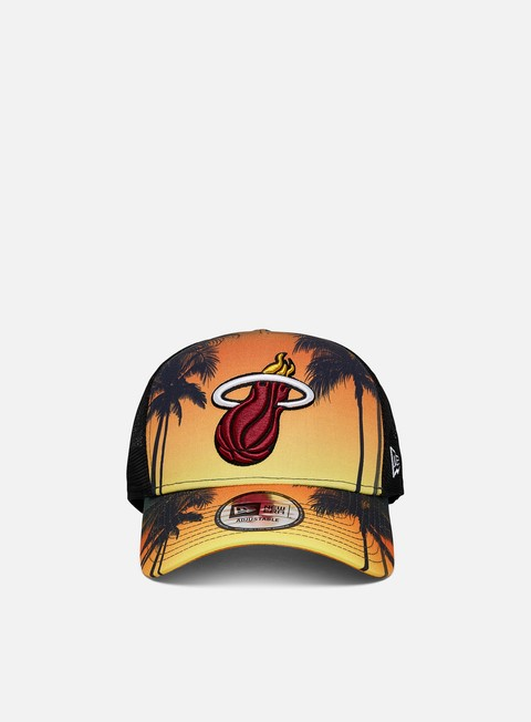 New Era Summer City Trucker Miami Heat