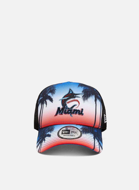 New Era Summer City Trucker Miami Marlins