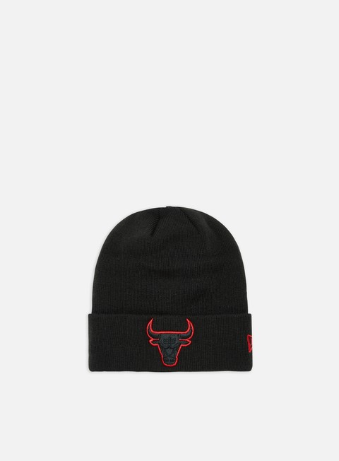 New Era Team Color Out Line Knit Beanie Chicago Bulls