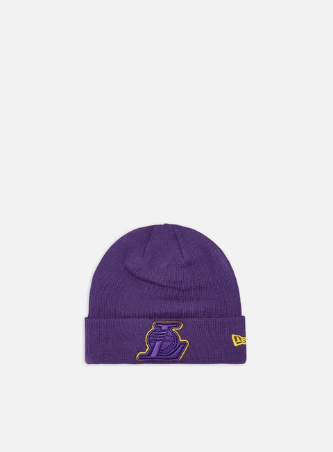 Cuffie New Era Team Color Out Line Knit Beanie LA Lakers