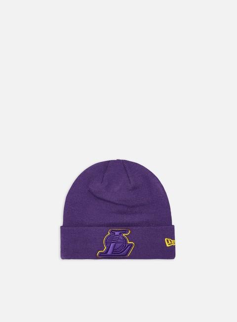 New Era Team Color Out Line Knit Beanie LA Lakers