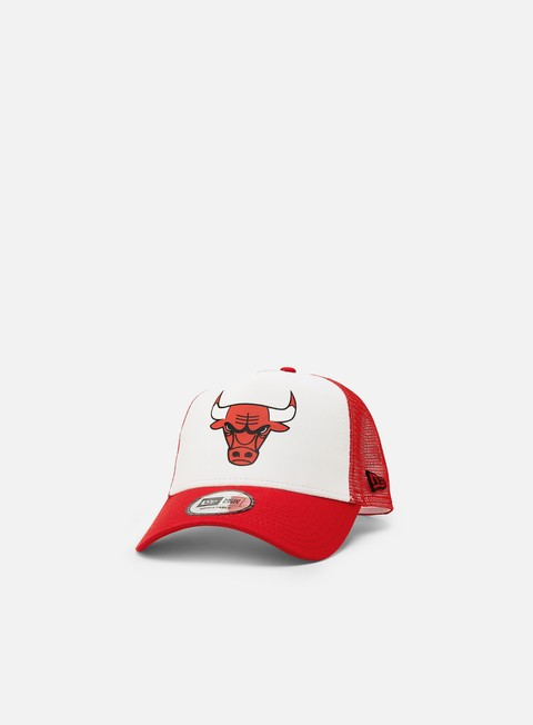 Outlet e Saldi Cappellini Visiera Curva New Era Team Colour Block Trucker Chicago Bulls