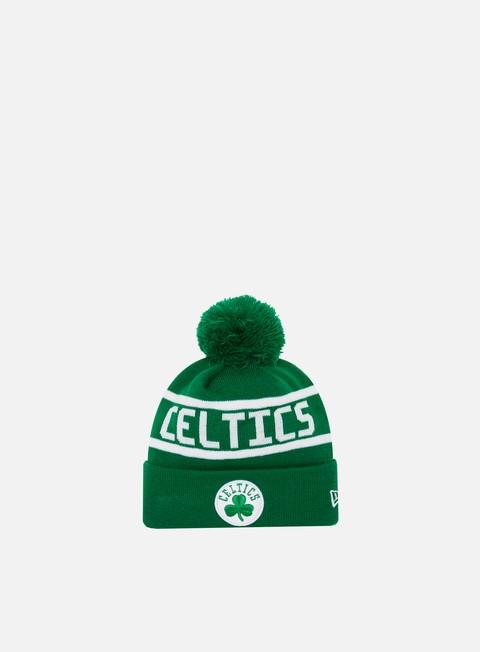 New Era Team Jake Bobble Cuff Knit Beanie Boston Celtics