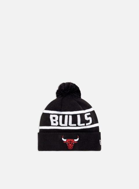 New Era Team Jake Bobble Cuff Knit Beanie Chicago Bulls
