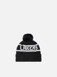 New Era Team Jake Bobble Cuff Knit Beanie LA Lakers
