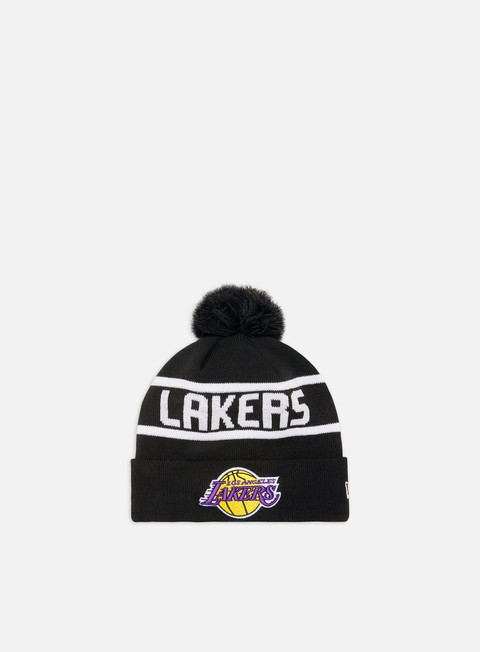 Cuffie New Era Team Jake Bobble Cuff Knit Beanie LA Lakers