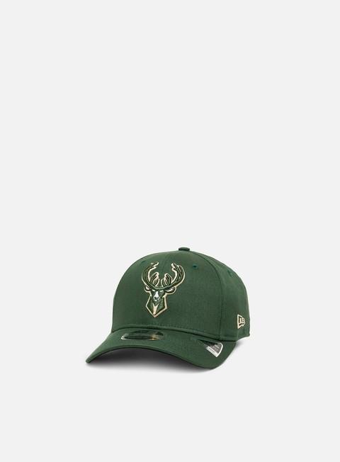 Outlet e Saldi Cappellini Visiera Curva New Era Team Stretch 9Fifty Snapback Milwaukee Bucks