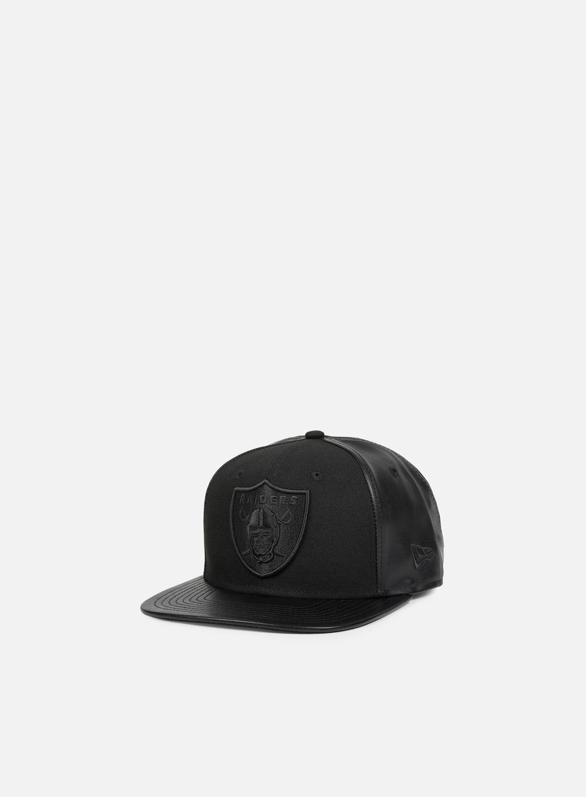 New Era - Texture Mid Snapback Oakland Raiders, Black/Black