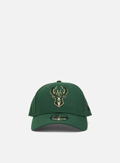 Curved Brim Caps New Era The League 9Forty Strapback Milwaukee Bucks