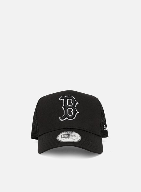Outlet e Saldi Cappellini Visiera Curva New Era Tonal Mesh Trucker Snapback Boston Red Sox