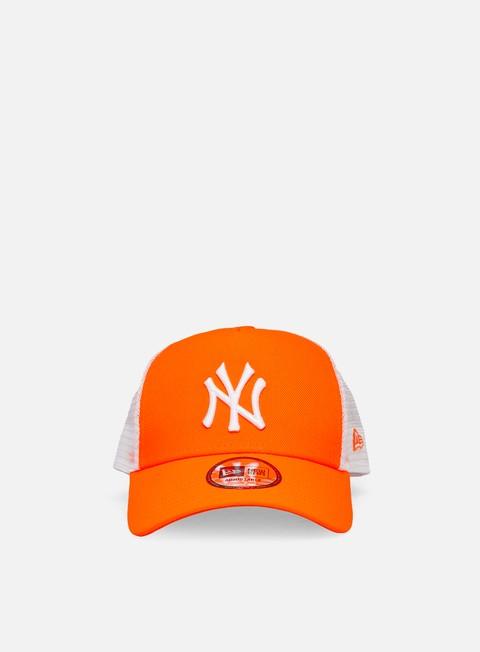 Curved Brim Caps New Era Tonal Mesh Trucker Snapback NY Yankees