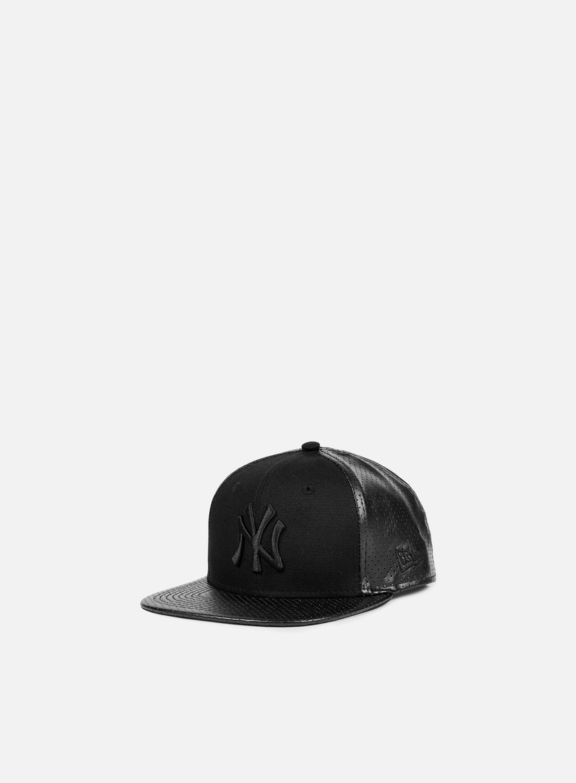 New Era - Tonal Perf Vize Snapback NY Yankees, Black/Black