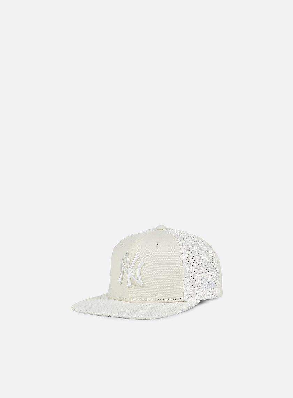 New Era - Tonal Perf Vize Snapback NY Yankees, White/White