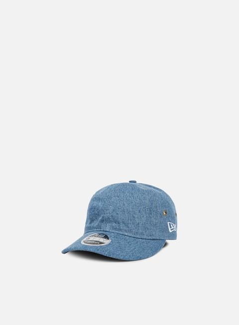 Curved Brim Caps New Era Wahed  Denim Strapback