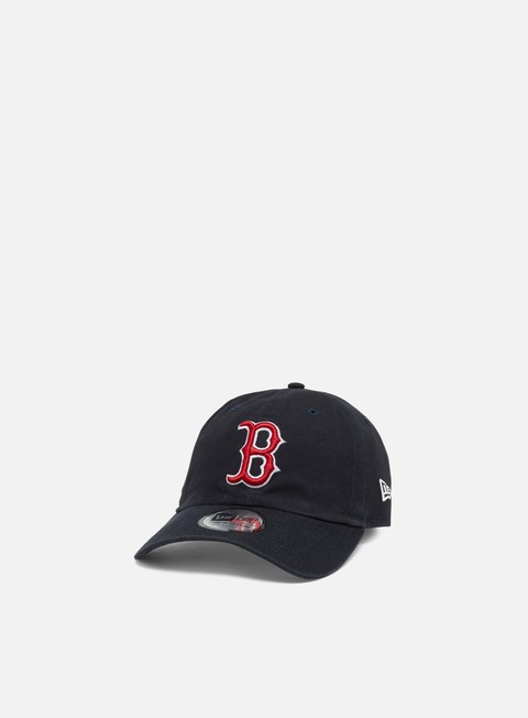 Cappellini Visiera Curva New Era Washed Casual Classic 9Twenty Strapback Boston Red Sox
