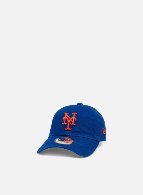 Outlet e Saldi Cappellini Visiera Curva New Era Washed Casual Classic 9Twenty Strapback NY Mets