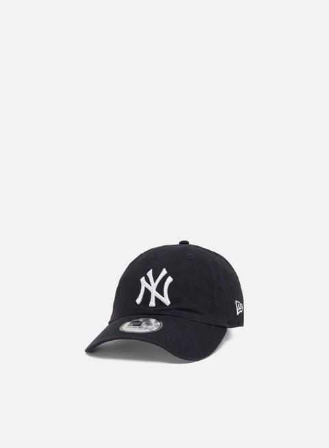 Outlet e Saldi Cappellini Visiera Curva New Era Washed Casual Classic 9Twenty Strapback NY Yankees