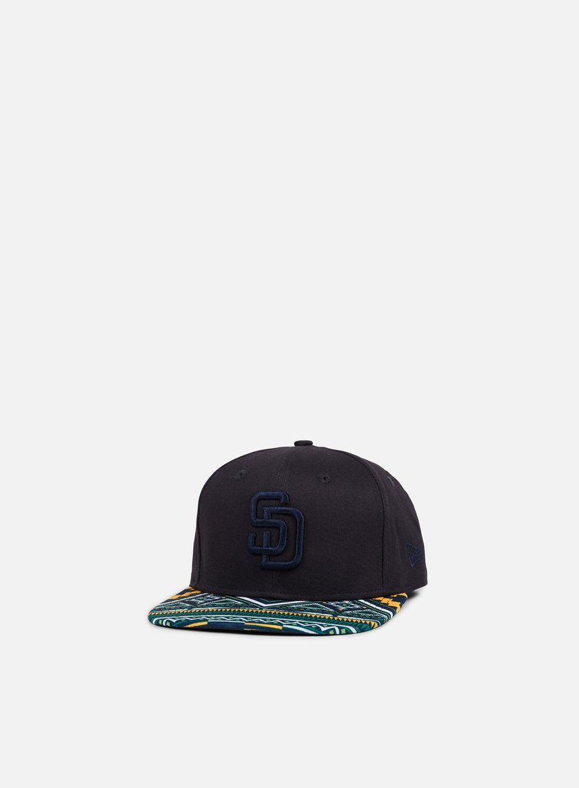 New Era - West Coast Visor Snapback San Diego Padres, Dark Navy/Multicolor