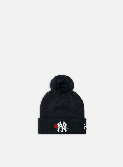 New Era WMNS MLB Twine Bobble Knit Beanie NY Yankees