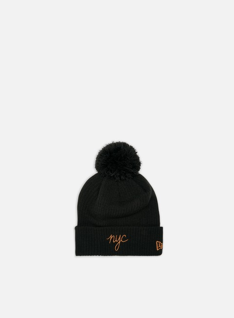 Beanies New Era WMNS NYC Script Bobble Knit Beanie