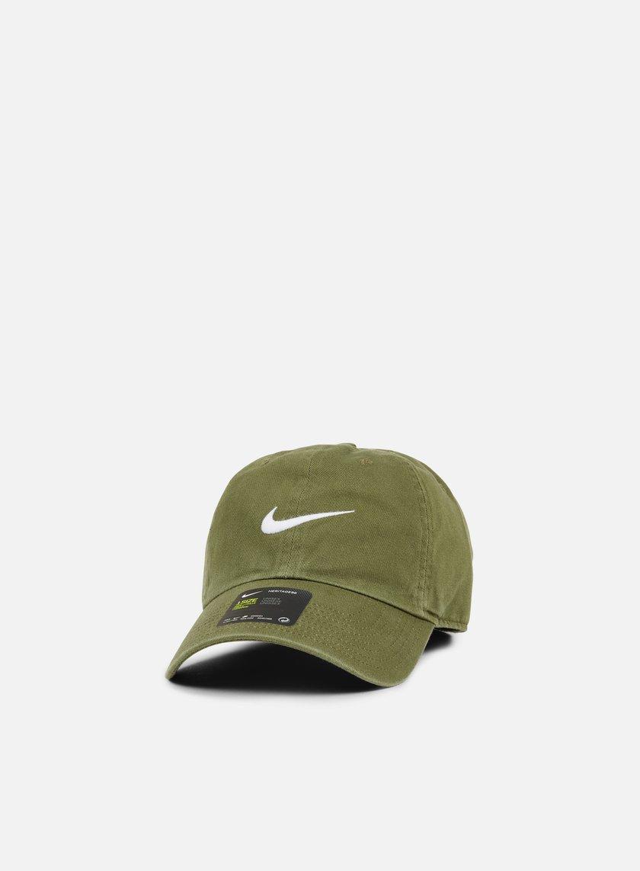Nike - H86 Classic Swoosh Cap, Medium Olive/White